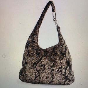 """""""TOPSHOP"""" Snakeskin Fabric Slouch Style Bag ."""